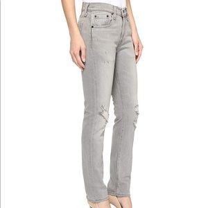 Levi's 505c Slim Straight Leg Gray Jeans